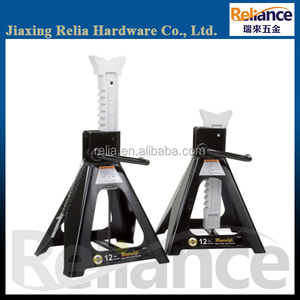6 Ton heavy duty jack stand with anti-sink feet /ratchet double locking
