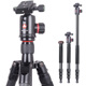Kingjoy Outdoor Mountain Photographic Tripod with high-end friction ball head for D800 EOS1DX A900 A 850