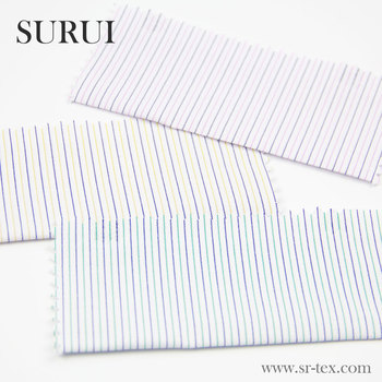 c088aeeef52 Online Fabric Store Cotton Poly Stripe Suiting Shirting Fabric - Buy ...