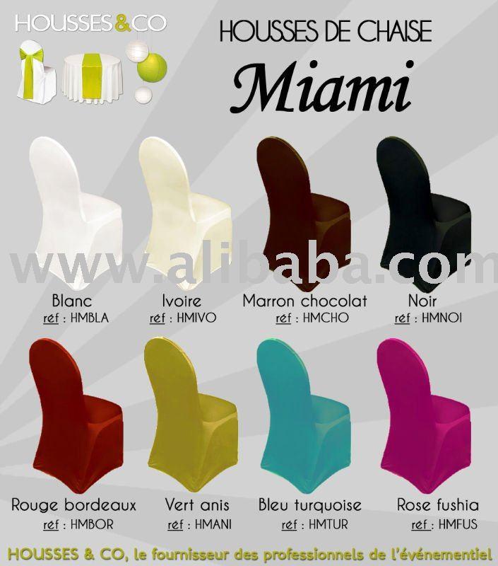 Housses De Chaise Lycra Pour Chaises MiamiChaises CoquesChaises Pliantes