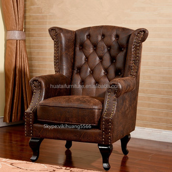Hot Sales Bonded Leather Club Chair Comfortable Single Sofa Chair ...