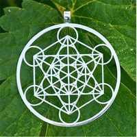 Yiwu Aceon Stainless Steel Laser Cut Jewelry Sacred Geometry Style Metatron's Cube Pendant