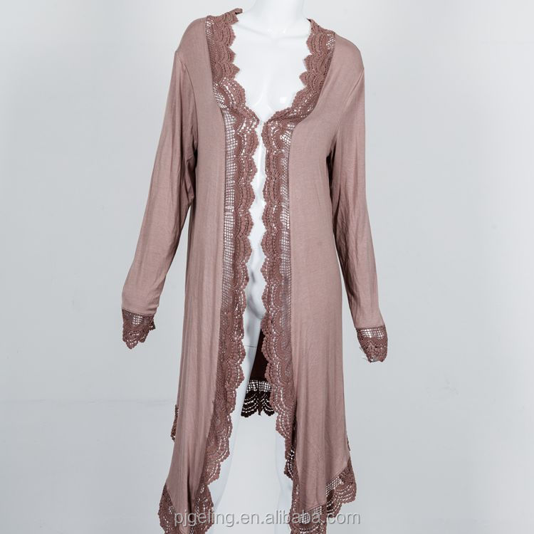 vietnam clothing lace fabric breathable autumn long women's cardigan