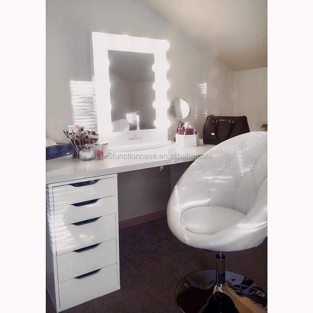 Hot Selling Hotel Corner Table Top Makeup Mirror Dressing
