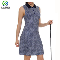 Best price polo knit collar 85% poly 15% spandex weave print shorts included lady dress
