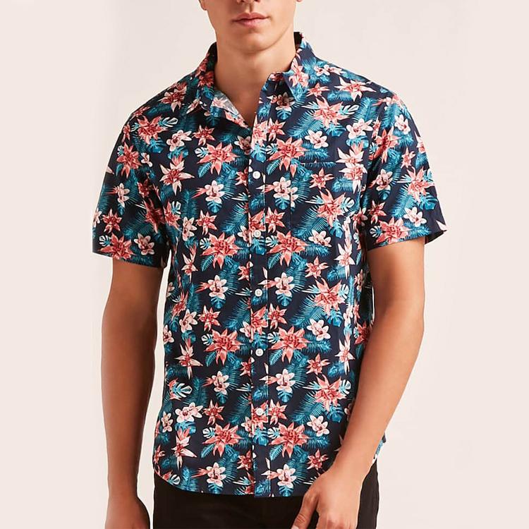 bangladesh clothing floral print men's viscose fabric shirts