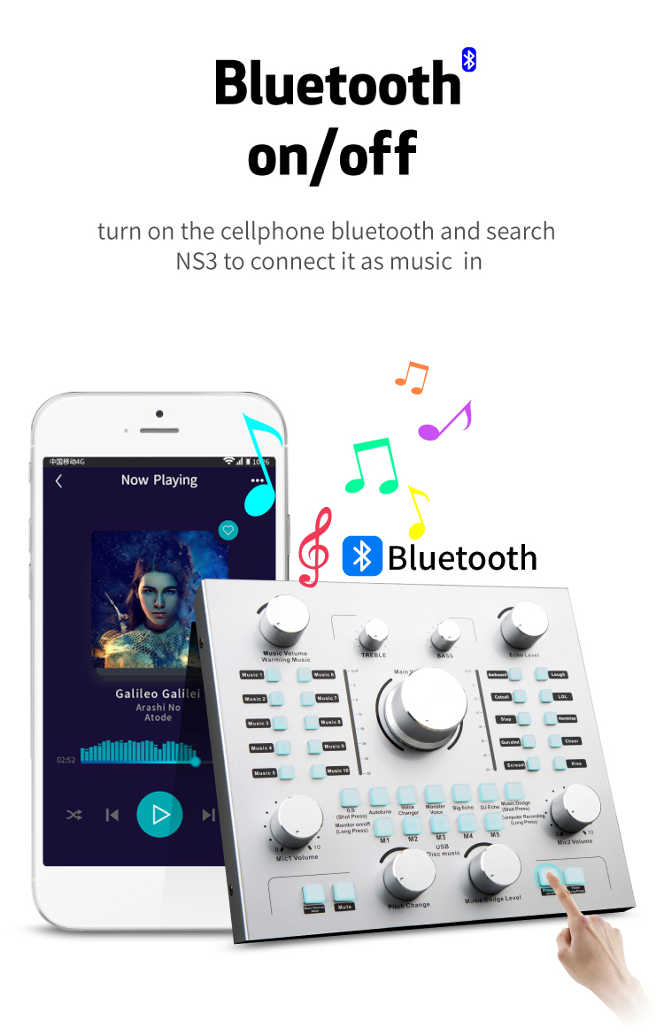 Professional 3d android k10 usb driver blue tooth for recording studio sound cards V8