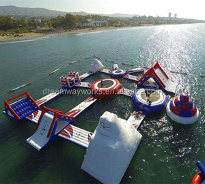 Quality assurance giant inflatable water playground, inflatable floating park for sale