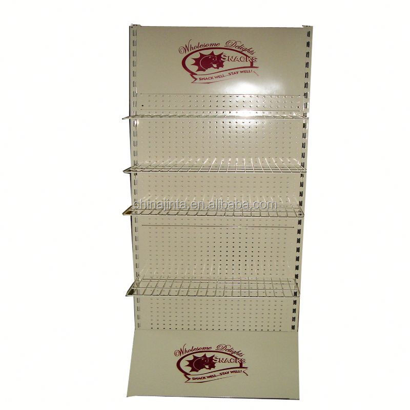 wire mesh supermarket shelf