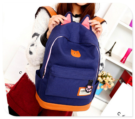 Cute Cat Ears School Bag Best 2014 Popular Backpack Brands - Buy ...