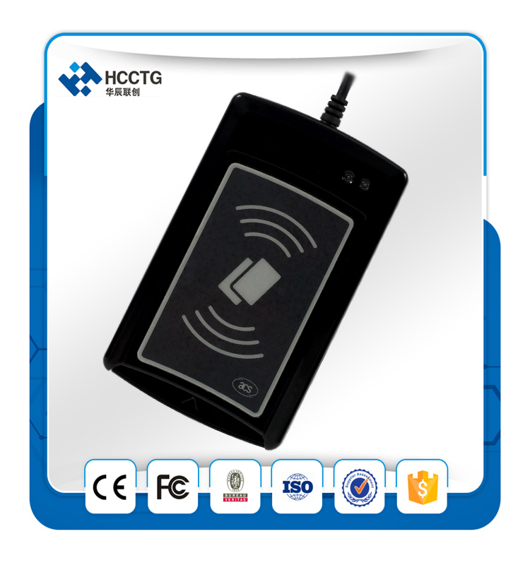 Hot Selling RFID Dual Interface Contact and Contactless Chip Smart Card Reader/Writer ACR1281U-C1