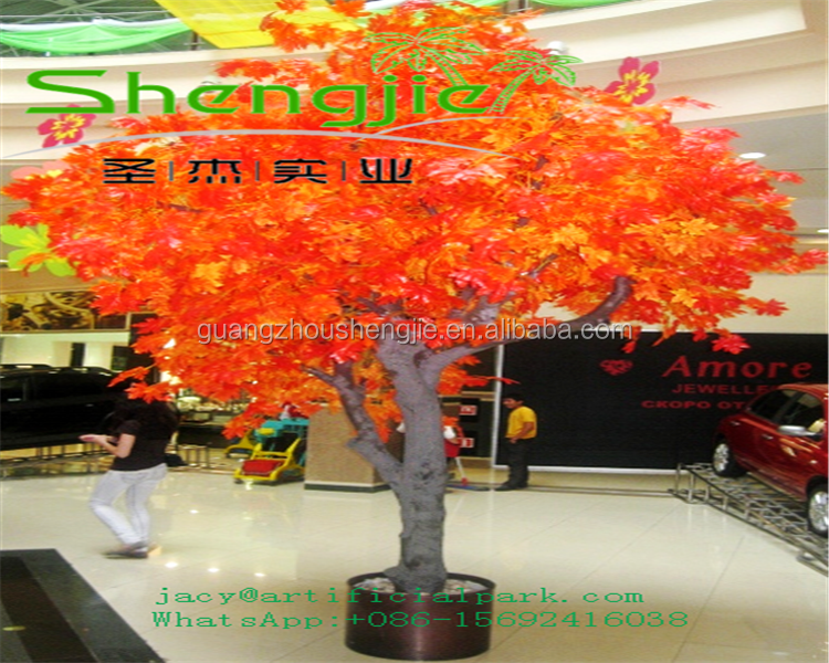 SJLJ0701shengjie direct selling outdoor decorative red artificial tree plant / artifiical maple tree