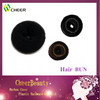 professional black synthetic hair bun hair donut
