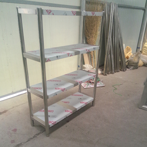 Factory prices 4 layer stainless steel rack/ iron rack/ steel shelves racking