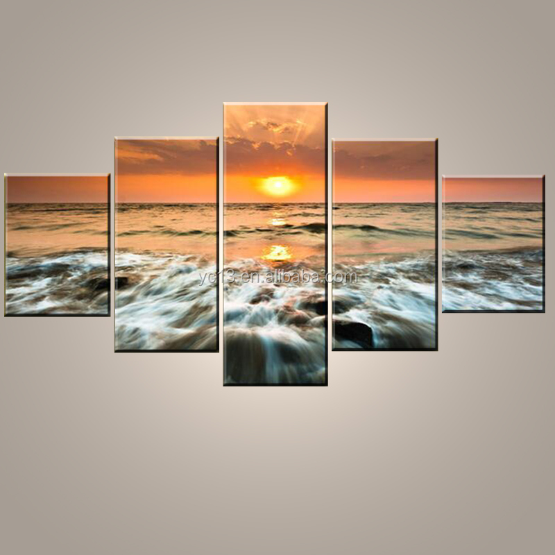 5 panel Natural Scenery Canvas Printing <strong>Art</strong>/Customized Digital Photography Printing