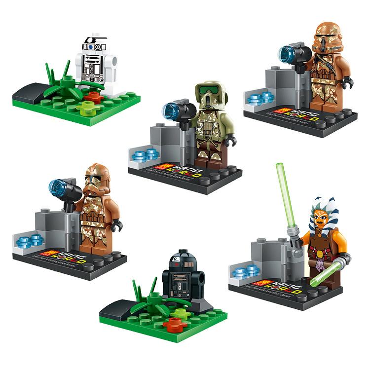 6PCS Star Wars Clone Troopers Minifigures Buliding Blocks Figures Model Toys Bricks Compatible legoelieds star wars original
