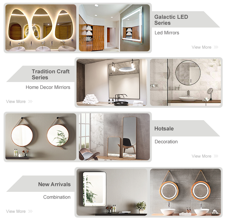 Norhs square frameless quality modern wall illuminated beauty led lit glass bathroom mirrors with lights