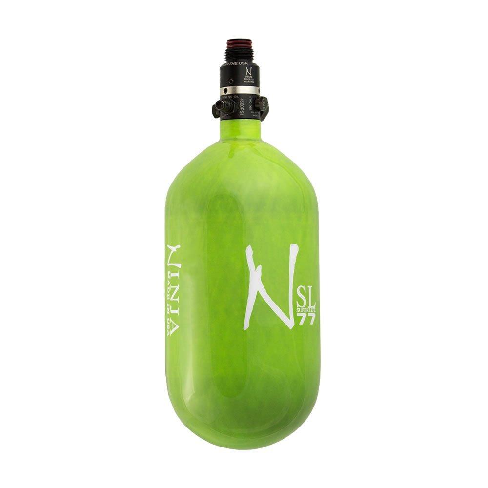 Ninja Carbon Fiber HPA Tank - SUPERLIGHT / SL - PRO V2 REG - 77/4500 - Lime