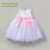 Wholesale New Spring Embroidery Kids Party Wear Dresses with Underpants for Baby Girls