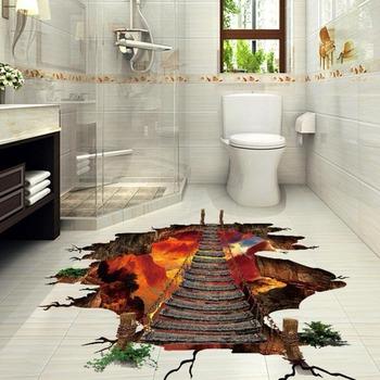 Moq 500 Badezimmer,Das Bodenaufkleber 3d Druckt - Buy Boden Aufkleber,3d  Boden Aufkleber,Druck 3d Boden Aufkleber Product on Alibaba.com