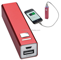Hot sale portable lipstick style power bank 2600mah phone accessories mobile