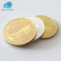 Custom metal stamping manufacturers natural history museum 24k gold 999 silver souvenir coins