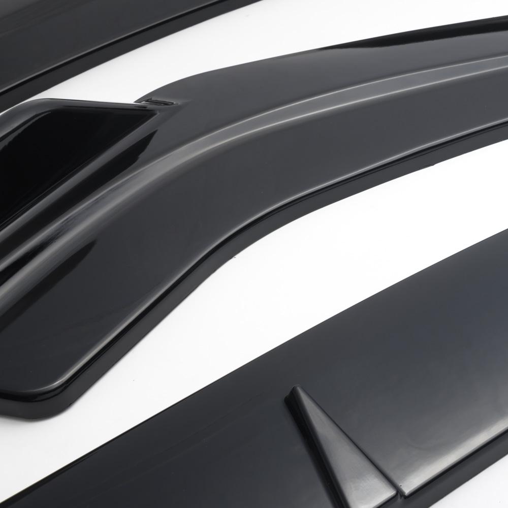 EPMAN-3 pcs negro Auto parachoques delantero Chin Spoiler Kit de cuerpo para Honda Civic sedán 16-18 EP-QCHD1618BK