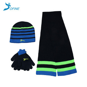 128e8f9d3ec Cheap custom 100% acrylic winter knitted children hat scarf and glove set