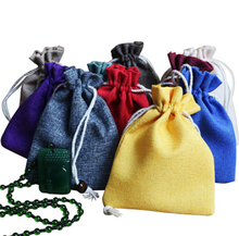 Mass of spot linen bundle pockets drawstring bag jewelry wenwan bracelets bracelet bag storage bag