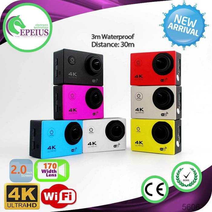 4K 30FPS Video F60 WIFI CAMERA action camera 4k driver 2 Inch HD Screen Sports Camera