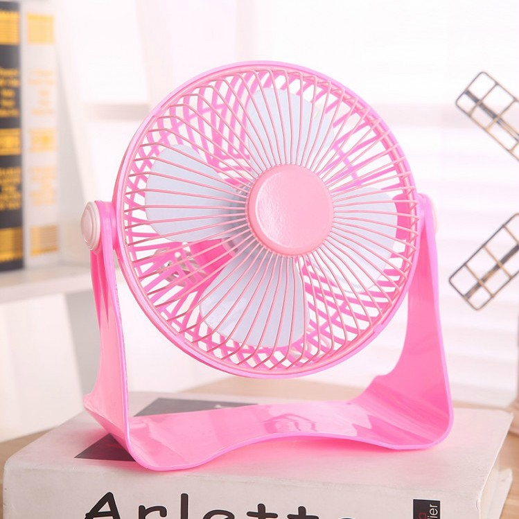 360 degree rotation plastic usb desk fan bright pink power-saving usb mini fan