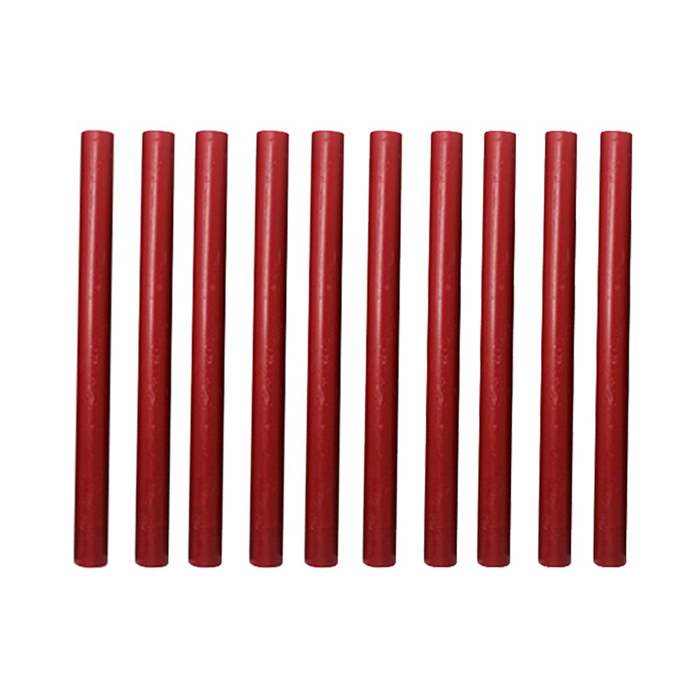 Sealing Wax Sticks,10 Pieces Flexible Glue Gun Sealing Wax for Retro Vintage Invitations Envelope Letter (Red)