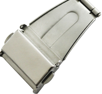 Stainless steel double press watch buckles with stocks