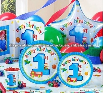 Boys Playtime 1st Birthday Party Supplies