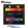 Premium Quality 24 Colours Acrylic Paint And 3 pcs Paint Brushes For Artist Painting