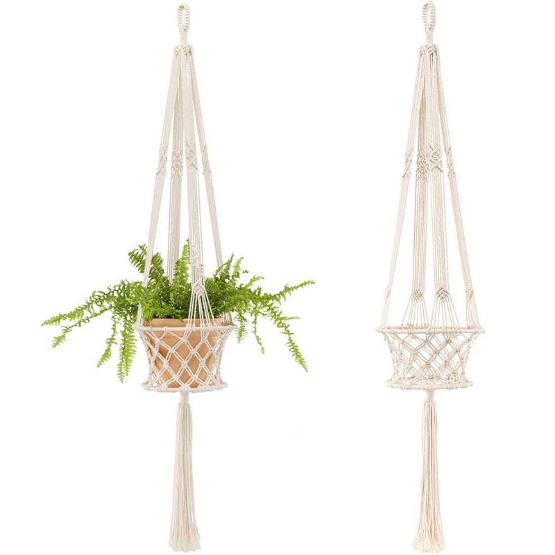 mkono 2pcs mini suspension plante macram decoration porte plantes int rieur ou ext rieur coton. Black Bedroom Furniture Sets. Home Design Ideas