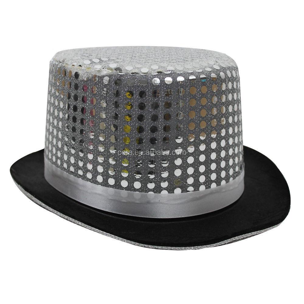 Sequin Top Hat Cabaret Circus Fancy Dress Costume Topper Accessory CB616 20dfd59f6b3