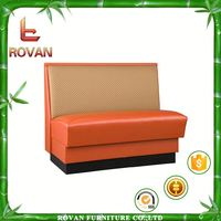 hot sale restaurant booth red leather booth sofa