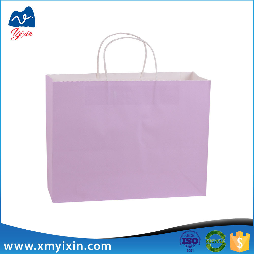 Xiamen manufacturer white kraft printed paper bag