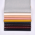 Wear-Resistant Synthetic Pu Leather Embossed Faux Linen Woven Pattern Imitation Leather