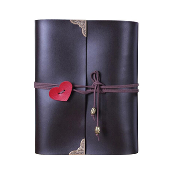 Top Quality Vintage Leather Love Photo Albumblack Pages Memory