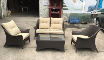 Luxury Outdoor Furniture All Weather Patio Rattan Sofa Set/wicker Sofa/furniture  Garden Furniture