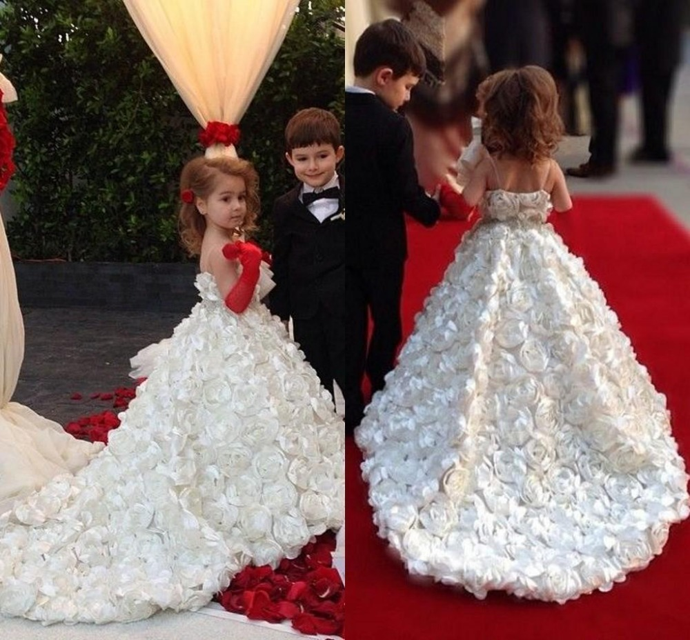 2015 new flower girl dresses with flower sash pageant dress little girls princess prom party. Black Bedroom Furniture Sets. Home Design Ideas