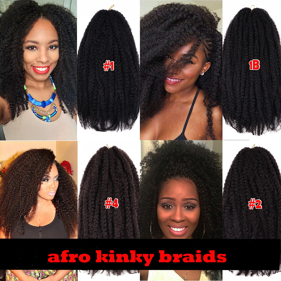 Afro Twist Kinky Marley Hair Crochet Braids Synthetic Hair