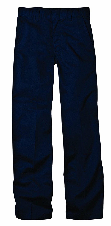 Dickies KP321DN KP321 Boy's Flexwaist Flat Front Pant With Logo (Dark Navy;14 Husky)
