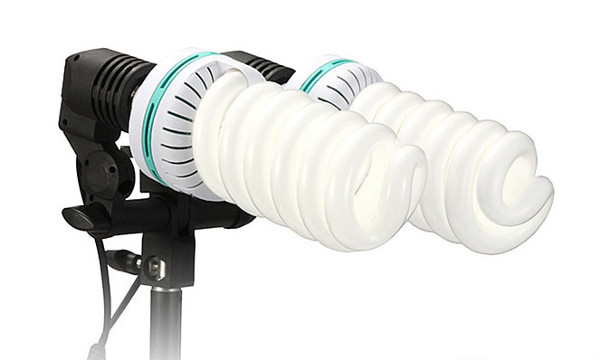 Studio Flash Light Lamp Bulb Twin Double Head Holder E27 Socket Umbrella Bracket Buy Double