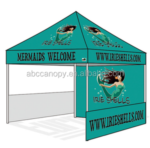 Custom Printed Commercial Promotion Gazebo Pop Up Canopy Tent With Wheeled Bag Packaging instant outdoor canopy replacement top