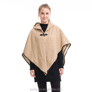 2016 new winter sweater wholesale knit wraps fancy cashmere poncho