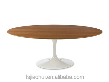Attractive Oval Tulip Table Walnut Veneered MDF Top Dining Table
