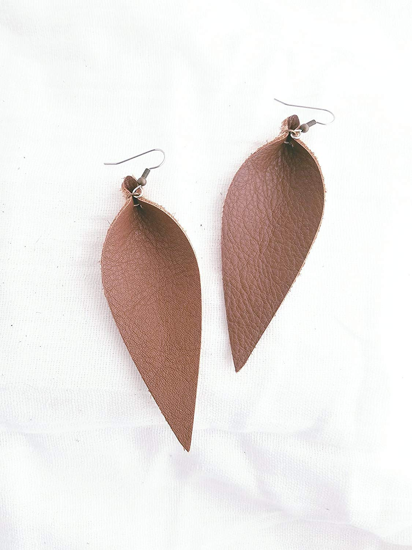 Brown/Leather Statement Earrings - Large/Joanna Gaines Earrings